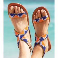 Travel in Style with Aspiga's Handmade leather sandals and luxury beachwear. Beaded Shoes, Beaded Sandals, Strappy Sandals, Leather Sandals, Women Sandals, Shoes Women, Indian Shoes, Bohemian Sandals, African Accessories