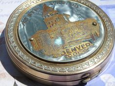 vintage compact with Colorado State Capitol by TheNineOfCups