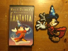 Sorcerer Mickey Fantasia perler beads by 8bitsofawesome on deviantart