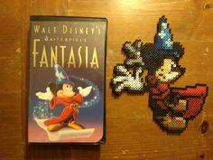 Sorcerer Mickey Fantasia perler beads by 8bitsofawesome on deviantart