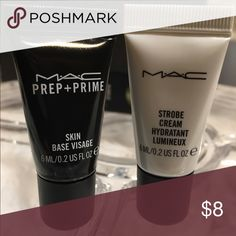 MAC Prep +Prime SKIN BASE & Strobe Cream MAC Strobe Cream Hydratant Lumineux.  MAC Prep + Prime SKIN BASE VISAGE  . . Smaple sizes Authentic MAC Cosmetics Other