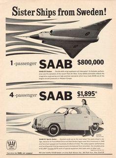 SAAB Road & Track October A bargain at twice the price? Retro Cars, Vintage Cars, Antique Cars, Saab 35 Draken, Saab Automobile, Saab Turbo, Good Looking Cars, Saab 900, Car Posters