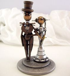 The ultimate in robot cake toppers. Adorable and chic all at once.