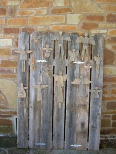Angels Old Barn Wooden Angels Christmas Angels Love by CooClaw