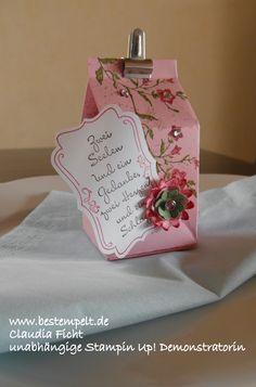 Stampin Up! Milchkarton Hochzeit