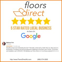 Floors Direct Review by Matthew Polk on Google after using Floors Direct for his NJ flooring project. Home Carpet, New Carpet, Flooring Store, Carpet Flooring, Floors Direct, Giving Quotes, Removing Carpet, Flooring Companies, Home Repairs