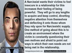 Narcissists inflict insecurities in others