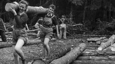 """Women of the woods, come forward! Your place in history awaits.  The Forestry Commission is looking for its wartime lumberjills.""  (Love the ""field shorts""!)  Read more: http://histomil.com/viewtopic.php?f=95&t=6624#ixzz38UnoRlCU"