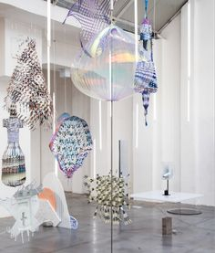 "Jetske Visser and Michiel Martens' glass sculpture ""Holon""."