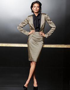 Satin-Blazer mit feinem Krawatten-Muster | MADELEINE Mode