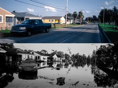 PhotoNotes - FotoNotasFrom the project NEW ORLEANS THEN & NOW   Franklin Avenue and Frankford Street     New Orleans, years after Katrina hit the city and cau...