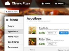 Online Food Ordering Service designed by ThemeBully. Connect with them on Dribbble; Appetizer Salads, Yummy Appetizers, Homemade Breadsticks, Pizza House, Order Food Online, Web Ui Design, Food Industry, Web Application, Chicken Wings