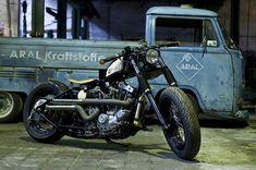 Harley bobber shed