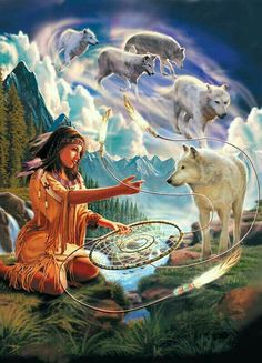 Save Gray Wolf, buy quality products and provide wolf sanctuary! - 🐺💕💃🏻Wolves and Women Images? to explore awesome wolf decor, - Native American Wolf, Native American Pictures, Native American Artwork, Native American Wisdom, Native American Beauty, American Indian Art, Native American History, Animal Spirit Guides, Spirit Animal