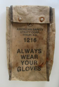 Canvas Glove Bag Vintage American Safety 'Always by HobbitHouse