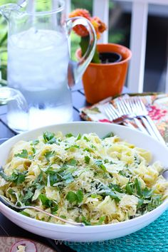 Fresh Summer Pasta with Plugra Ricotta Sauce - Willow Bird Baking