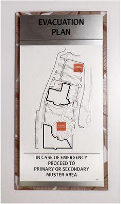 Fusion Evacuation Sign with Insert.  #signage #wayfinding