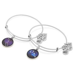 ALEX AND ANI   Big and Little Dipper Set of Two Charm Bangles   Big Brother Big Sisters of America