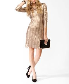 10. The perfect holiday outfit you'd love to wear. Sequined Scalloped Dress from Forever 21. #momselect  #yoursantastory