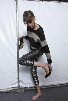 Sequins & stripes!!!! Prfct!