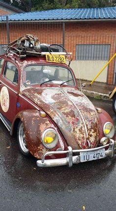 #vw #volkswagen #beetle #sedan #vocho #fusca #ratlook #ratrod #rust #oxido #hoodride