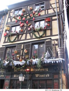 Christmas decorations in Strasbourg, FR