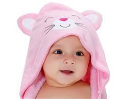 V-SOL Toalla De Baño Con Capucha Para Bebé 120*115CM (D)