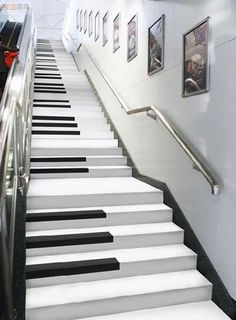 Stairs Piano design Staircase Home decor Piano Stairs, Basement Stairs, Open Basement, Basement Ideas, Sweet Home, Take The Stairs, Staircase Design, Staircase Ideas, Staircase Remodel