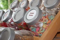 Jar Candy $0.05/each Worms, Summertime, Berries, Jar, Candy, Sweet, Toffee, Sweets, Bury