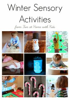 13 Winter Sensory Activities from Fun at Home with Kids
