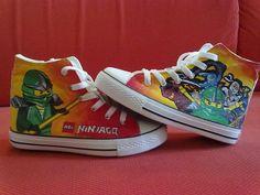 LEGO Ninjago customized shoes