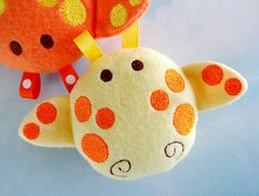 Baby Giraffe Softie Embroidery Design for Machine Embroidery