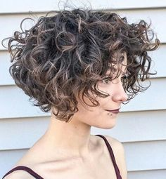 60 Most Delightful Short Wavy Hairstyles Voluminous Short Curly Bob Short Curls, Tight Curls, Short Curly Bob, Short Hair Cuts, Curly Inverted Bob, Short Hair With Perm, Permed Short Hair, Curly Hair With Fringe, Curly Updos For Medium Hair