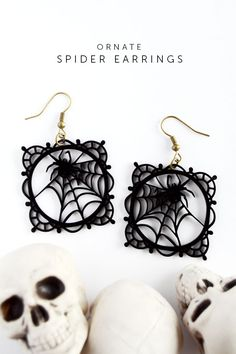 Learn how to create gorgeous lace spiderweb earrings with the new Silhouette Cameo 3 and some shrink plastic material, plus the correct settings for you to cut your shrink plasitc perfectly!