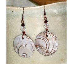 Chocolate and Cream - Ceramic Earrings  $37.99