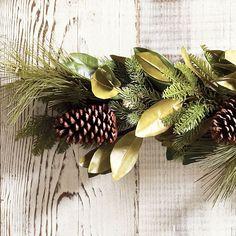 Modern Christmas Decor, Indoor Christmas Decorations, Christmas Items, All Things Christmas, Christmas Holiday, Magnolia Garland, Magnolia Leaves, Tassel Garland, Leaf Garland