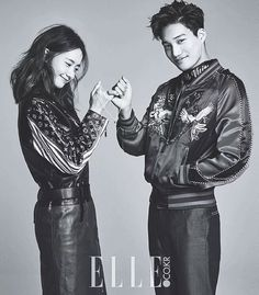 Yoona n kai. my friend who love kai so much hate yoona bcs of thia photoshoot😢😢😢😢 Couple Posing, Couple Shoot, Couple Photography, Photography Poses, Kai Exo, Kim Minseok, Yoona Snsd, Korean Couple, Elle Magazine