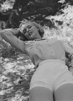 Marilynat Griffith Park  Photographed by Ed Clark;1950
