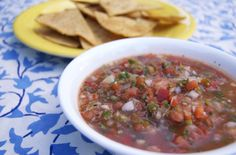Tequila-Lime Salsa & Homemade Tortilla Chips -   gotta love anything with tequila
