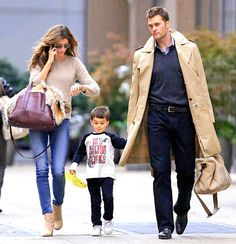 Gisele and Tom Brady and their son Benjamin step out in NYC.
