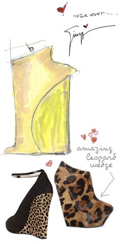 love the black wedge #heel