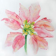 Poinsettia Watercolor by Kelihasablog