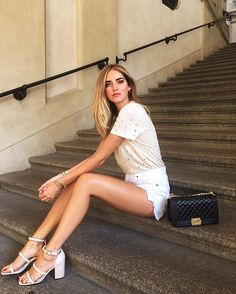 WEBSTA @ chiaraferragni - Today in our limited edition Iro tshirt and Senso sandals, exclusively available on our new estore @theblondesalad #LiveTBS #ShopTheBlondeSalad