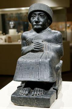 Statue of Gudea, Neo-Sumerian period.