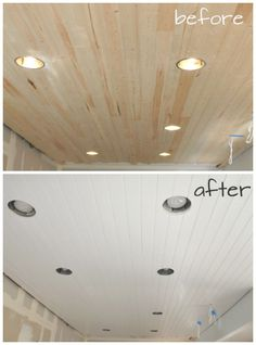 DIY:  How to Paint a Planked Ceiling for a Perfect Finish