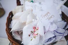 Hankies for your wedding guests. 'Cause you know your cuteness with may them cry. // Eyes 2 See Photography