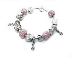 Pandora Bracciale Charms In Rosa Bubbles Perline &0627