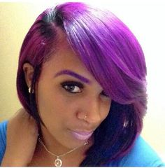 New hair purple bob haircuts Ideas Love Hair, Great Hair, Gorgeous Hair, Gorgeous Women, Short Bob Hairstyles, Weave Hairstyles, Pretty Hairstyles, Bob Haircuts, Hairstyle Ideas