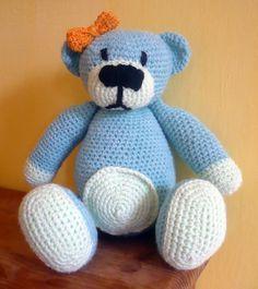 Häkeln Teddy Bär Mentol von Crochetland auf DaWanda.com