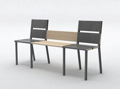 French designer Aïssa Logerot has this interesting and unique idea about how you can add up another chairs or converting your chairs into bench...